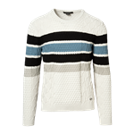 Multi Stripes Cable Sweater